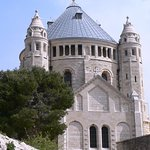 Dormition Abbey Dome from the West on Mt Zion