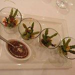Asparagus, corn & mushroom salad