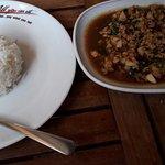 рис и свинина