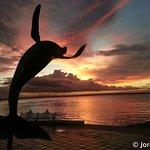 Malecon a la puesta de sol