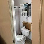 Bathroom in renovated room.