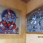 Two of Toller Cranston's glorious paintings in Hecho en Mexico