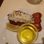 lobster tail with melted butter