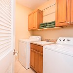 Each condo offers full laundry room