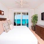 Master bedroom overlooks the sea.
