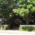 3 Nagas Restaurant - Outside Courtyard
