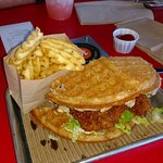 Nashville hot chicken & waffle - yum!