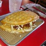 Chicken & waffle!