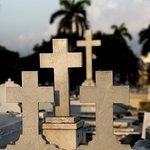 A series of crosses memorializing gravesites in the Cemetery de COlon