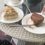 Carrot cake and Nutella cheesecake