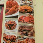 Different crab dishes offered