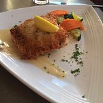 Potato encrusted salmon at Lavelle's in Fairbanks, Alaska. Very filling!