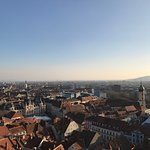 Nice view of Graz. Walk up the slope for 10-15mins from bottom