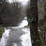 Sentiero che dai piedi della cascata porta quasi alla cima