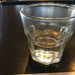 The shot of ouzo--I did not yet even take a sip!
