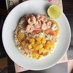 Shrimp tuna & chicken ham pineapple combo