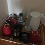 The tea and coffee provided were of good quality. There was also a hot chocolate in there too.