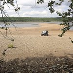 Sometimes Red Indian Lakes water levels drop very low in the Summer, showing off a great beach.