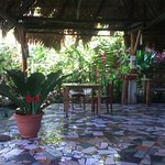A warm welcome and relaxing place to chill. Complimentary fruit,coffee and water.  Amazing mosai