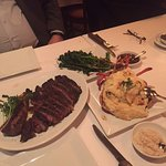 Ribeye, broccolini and lobster mashed (side of horseradish)