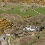 Scourie Lodge and Gardens from the air