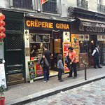 We made sure to take a picture of the Crêperie so we will remember the name next time we visit P