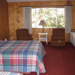 Lodging in comfortable mountain cabins.