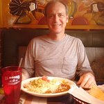 My Hubby Ready To Enjoy His Favorite Ground Beef Baked Chimichanga!