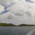 A view from the boat of Culebra Beach as we head back to Fajardo.