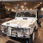 Canadian War Museum , Ottawa. Vehicle full of bullet holes.