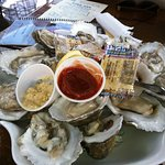 Pristine, succulant Oysters on the Half Shell served at the Beached Whale upper deck.