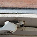 Corrosion on window handle