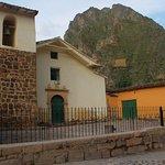 Near Church and Apu Tunupa with Inka's granaries