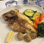 Sea bream cooked to perfection