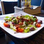 Salad with baby mozzarella