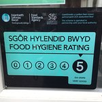 Five out of Five for food hygiene - it doesn't get better than that !