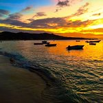 Heading ashore just in time to catch this sunset in Grenada