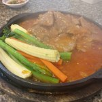 Beef on a hot plate