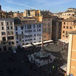 Daytime view of the Piazza della Rotonda from our room
