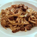 Hand Made Wild Mushroom Tagliatelle - incredible flavors.