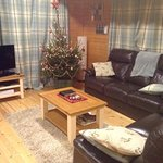 Such a warm and comfortable living room - with my first ever REAL Christmas tree... HEAVEN!!