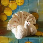 Turkey made from a towel by Jorge Eduardo