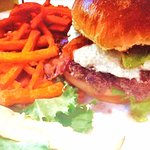 Good burger and sweet potato fries