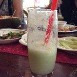 Green mango ginger shake