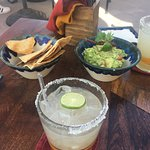 Margarita and Guac on the roof