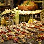 Beautiful food display