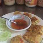 Egg roll just a simple ingredient and similar to omelette!!  Same same but different!!