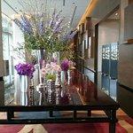 Grand Hyatt Macau lobby flower arrangement