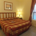 Clean room with comfortable king size bed
