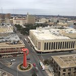 View from top floor meeting room. GIANT mall across the street, plus the Alamo